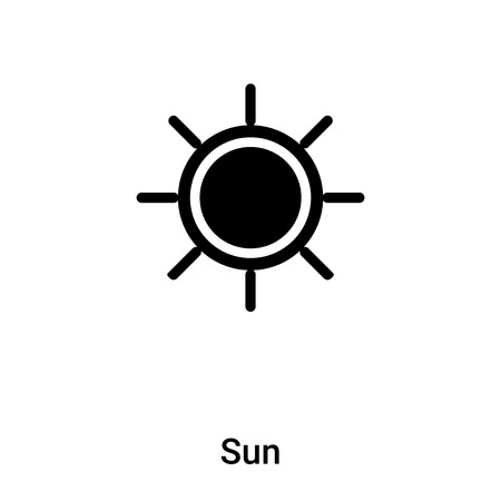 Sun icon vector isolated on white background,  concept of Sun sign on transparent background, filled black symbol  イラスト・ベクター素材