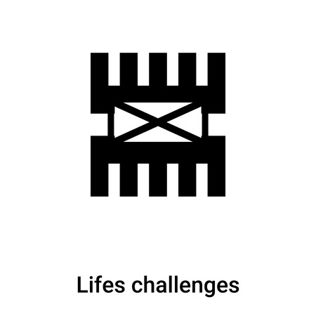 Lifes challenges icon vector isolated on white background, logo concept of Lifes challenges sign on transparent background, filled black symbol
