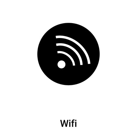 Wifi icon  isolated on white background,  concept sign on transparent background, filled black symbol