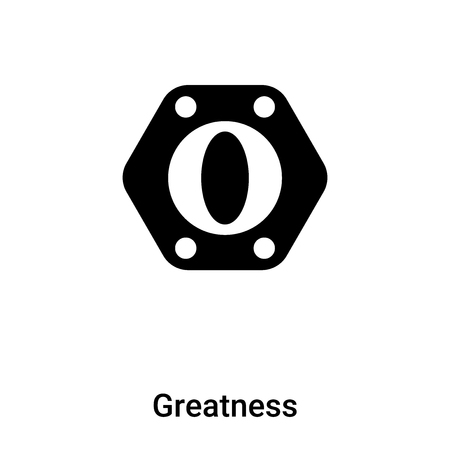 Greatness icon vector isolated on white background, concept of Greatness sign on transparent background, filled black symbol Vettoriali