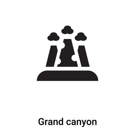 Grand canyon icon vector isolated on white background,  concept of Grand canyon sign on transparent background, filled black symbol Illustration