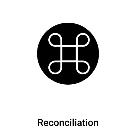 Reconciliation icon vector isolated on white background, concept of Reconciliation sign on transparent background, filled black symbol