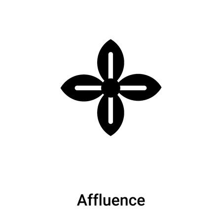 Affluence icon vector isolated on white background,  concept of Affluence sign on transparent background, filled black symbol Illusztráció