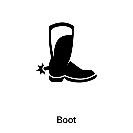 Boot icon vector isolated on white background, concept of Boot sign on transparent background, filled black symbol