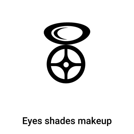 Eyes shades makeup icon  vector isolated on white background,  concept of Eyes shades makeup  sign on transparent background, filled black symbol