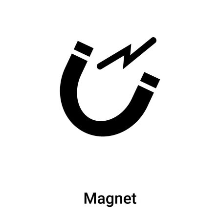 Magnet icon vector isolated on white background, logo concept of Magnet sign on transparent background, filled black symbol