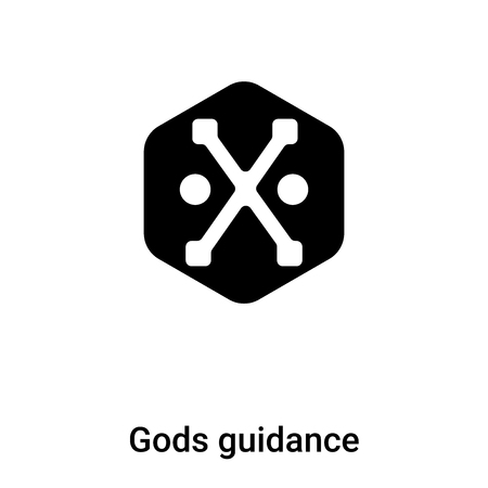 Gods guidance icon vector isolated on white background, concept of Gods guidance sign on transparent background, filled black symbol