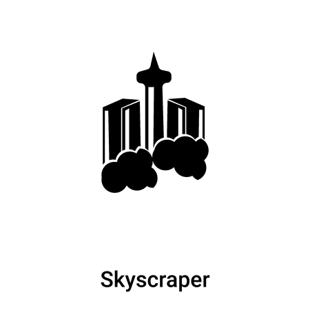 Skyscraper icon vector isolated on white background, logo concept of Skyscraper sign on transparent background, filled black symbol