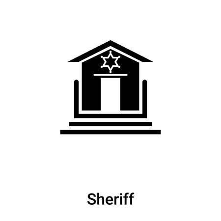 Sheriff icon vector isolated on white background, logo concept of Sheriff sign on transparent background, filled black symbol