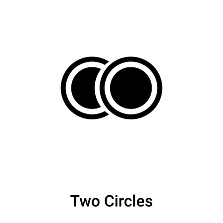 Two Circles icon vector isolated on white background, logo concept of Two Circles sign on transparent background, filled black symbol
