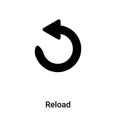 Reload icon isolated on white background,  concept of Reload sign on transparent background, filled black symbol