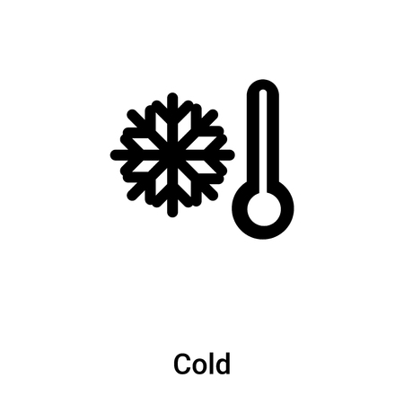 Cold icon isolated on white background, concept of Cold sign on transparent background, filled black symbol