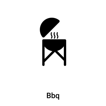 Bbq icon vector isolated on white background,   concept of Bbq sign on transparent background, filled black symbol Illustration