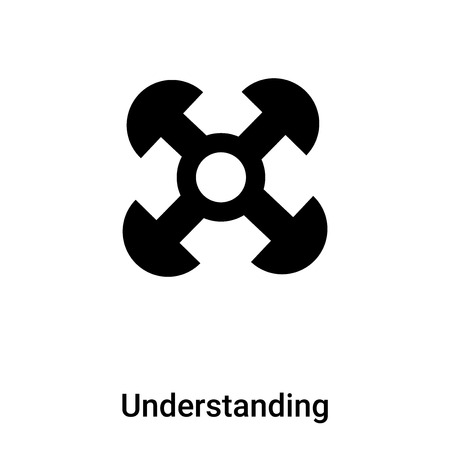 Understanding icon vector isolated on white background,  concept of Understanding sign on transparent background, filled black symbol Illustration