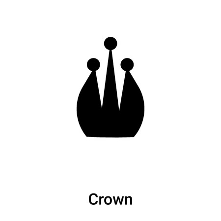 Crown icon vector isolated on white background,  concept of Crown sign on transparent background, filled black symbol