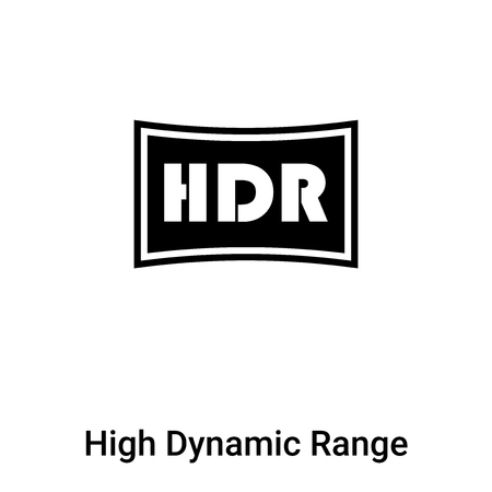 High Dynamic Range Imaging icon vector isolated on white background,  concept of High Dynamic Range Imaging sign on transparent background, filled black symbol
