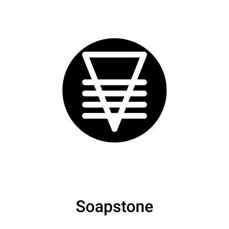 Soapstone icon vector isolated on white background,  concept of Soapstone sign on transparent background, filled black symbol
