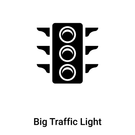 Big Traffic Light icon vector isolated on white background, logo concept of Big Traffic Light sign on transparent background, filled black symbol