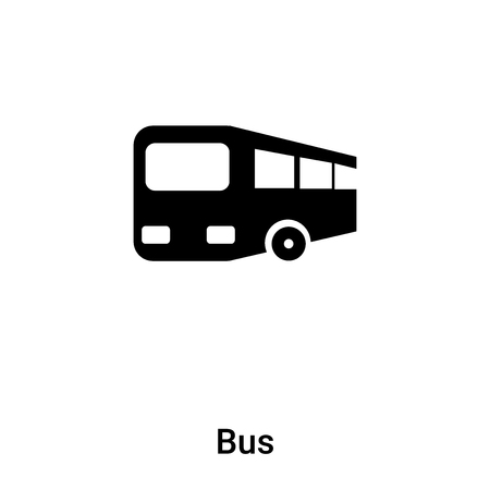 Bus icon vector isolated on white background, logo concept of Bus sign on transparent background, filled black symbol