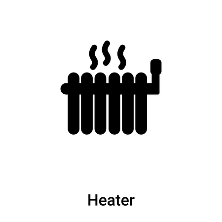 Heater icon vector isolated on white background, logo concept of Heater sign on transparent background, filled black symbol Stock Illustratie