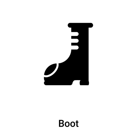 Boot icon vector isolated on white background, logo concept of Boot sign on transparent background, filled black symbol Illustration