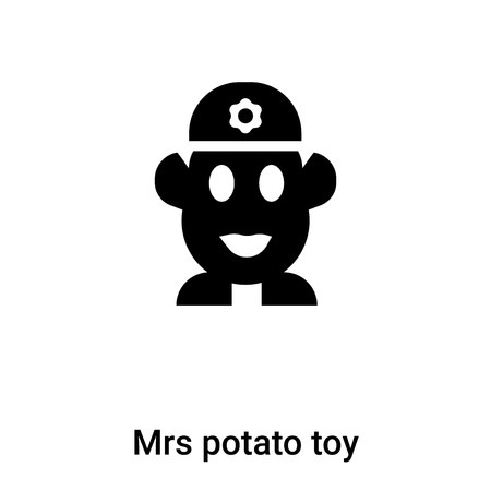 Mrs potato toy icon vector isolated on white background, logo concept of Mrs potato toy sign on transparent background, filled black symbol Foto de archivo - 121008564