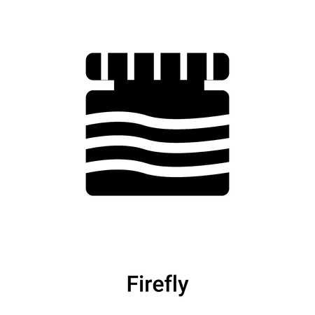 Firefly icon vector isolated on white background, logo concept of Firefly sign on transparent background, filled black symbol