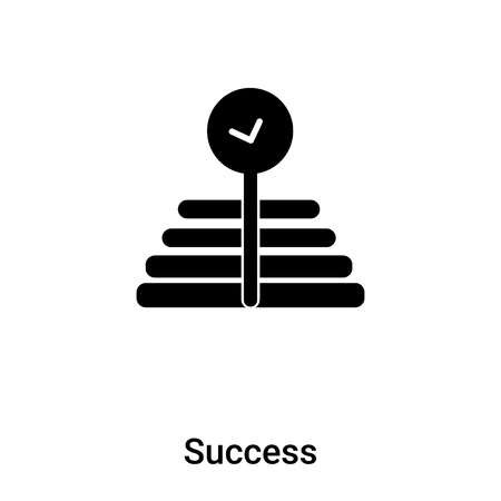 Success icon vector isolated on white background,  concept of Success sign on transparent background, filled black symbol