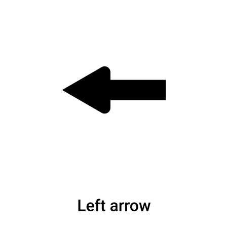 Left arrow icon vector isolated on white background, concept of Left arrow sign on transparent background, filled black symbol Çizim