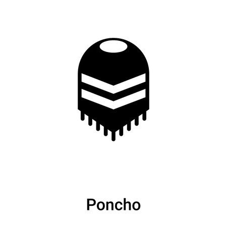 Poncho icon vector isolated on white background,  concept of Poncho sign on transparent background, filled black symbol