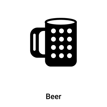 Beer icon vector isolated on white background, concept of Beer sign on transparent background, filled black symbol Illustration