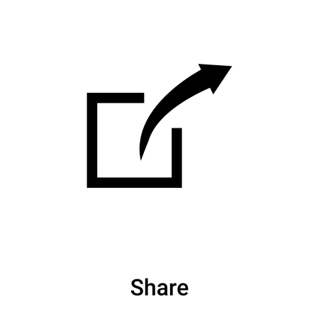 Share icon vector isolated on white background, concept of Share sign on transparent background, filled black symbol
