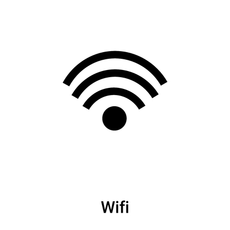 Wifi icon isolated on white background,  concept of Wifi sign on transparent background, filled black symbol