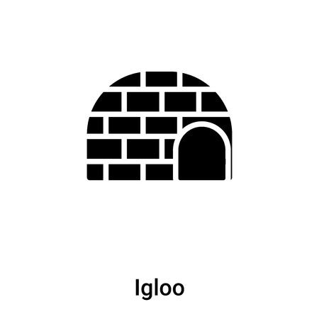 Igloo icon vector isolated on white background, concept of Igloo sign on transparent background, filled black symbol
