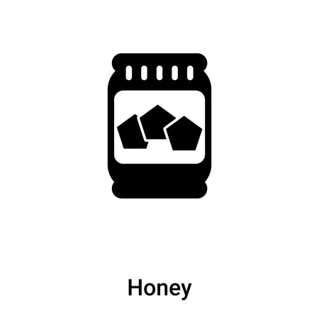 Honey icon vector isolated on white background, concept of Honey sign on transparent background, filled black symbol