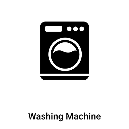 Wasmachine met stippen pictogram vector geïsoleerd op een witte achtergrond, concept van wasmachine met stippen teken op transparante achtergrond, gevuld zwart symbool Vector Illustratie