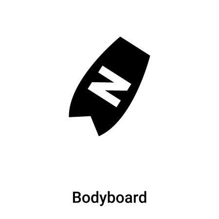 Bodyboard icon vector isolated on white background,  concept of Bodyboard sign on transparent background, filled black symbol