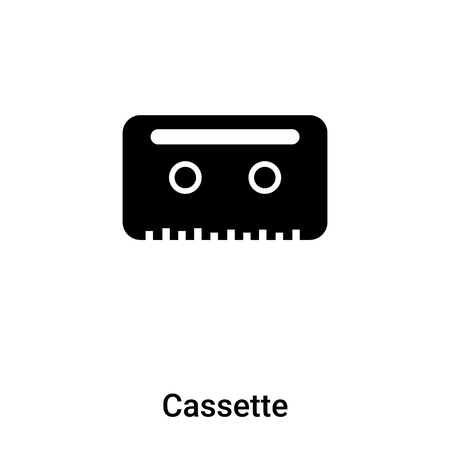 Cassette icon vector isolated on white background, concept of Cassette sign on transparent background, filled black symbol Foto de archivo - 121121472