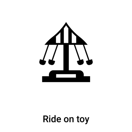 Ride on toy icon vector isolated on white background, concept of Ride on toy sign on transparent background, filled black symbol