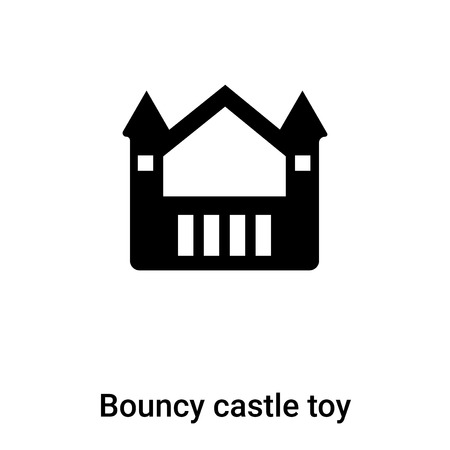 Bouncy castle toy icon vector isolated on white background, concept on transparent background, filled black symbol