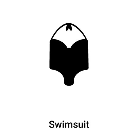 Swimsuit icon vector isolated on white background, concept of Swimsuit sign on transparent background, filled black symbol