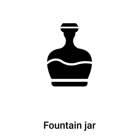 Fountain jar icon  vector isolated on white background, concept of Fountain jar  sign on transparent background, filled black symbol Illustration