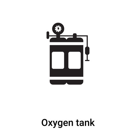 Oxygen tank icon vector isolated on white background,  concept of Oxygen tank sign on transparent background, filled black symbol Illustration