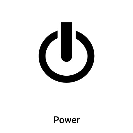 Power icon vector isolated on white background, concept of Power sign on transparent background, filled black symbol