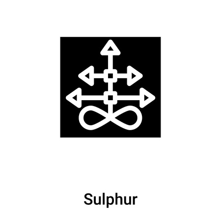 Sulphur icon vector isolated on white background, concept of Sulphur sign on transparent background, filled black symbol Illustration