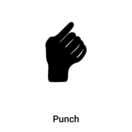 Punch icon vector isolated on white background, concept of Punch sign on transparent background, filled black symbol
