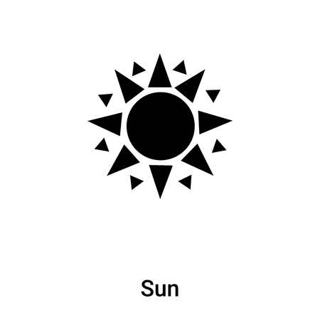 Sun icon vector isolated on white background, concept of Sun sign on transparent background, filled black symbol Stock Vector - 121232453