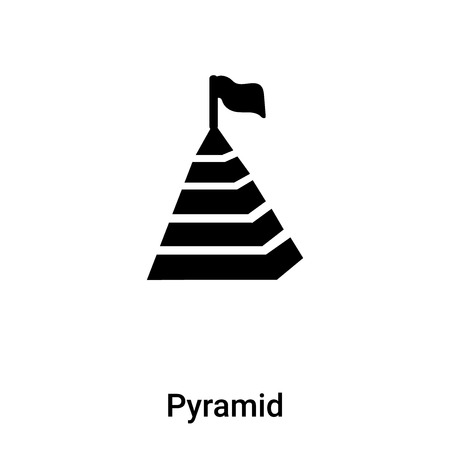 Pyramid icon vector isolated on white background,  concept of Pyramid sign on transparent background, filled black symbol