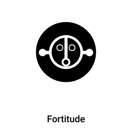 Fortitude icon vector isolated on white background,  concept of Fortitude sign on transparent background, filled black symbol