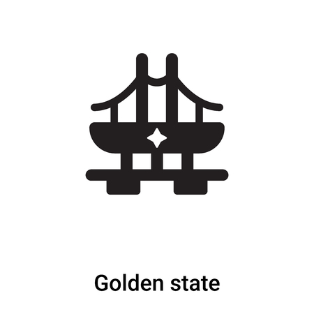 Golden state icon vector isolated on white background,  concept of Golden state sign on transparent background, filled black symbol
